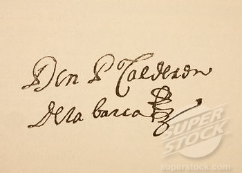 Firma de Pedro Calderón de la Barca