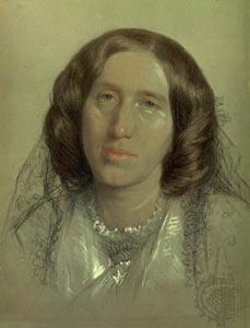 George Eliot. Chalk drawing by Sir Frederick-William Burton