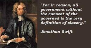 Swift's quote on government and slavery