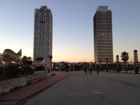 The two towers in Barcelona's seafront