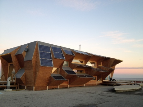 An interesting building in Barcelona's seafront