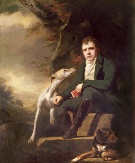 Henry Raeburn's portrait of Sir Walter Scott and his dogs