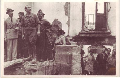 Josep Miret en el Frente de Aragón