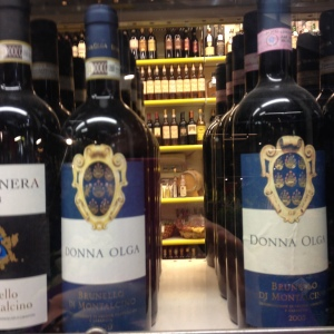 Donna Olga wine. And there were three different types!