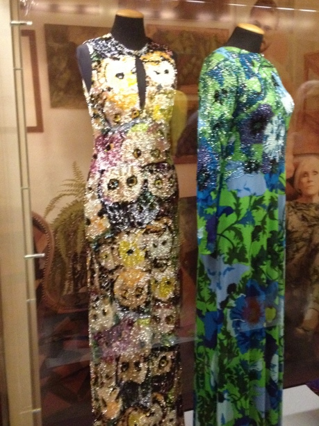 Wonderful creations by Lietta Cavalli exhibited at the Museum of Costumes in Florence's Palazzo Pitti. I love the owls!