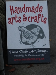 Hen's Teeth Art Group advert