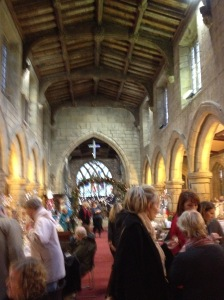 Inside of St John's Church during the fair