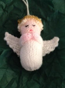 Hand-knitted angel