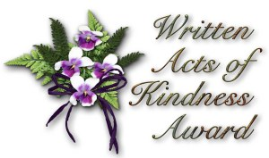 Written Acts of Kindness Award
