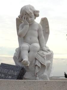 Angel in Montjuic cemetery, Barcelona