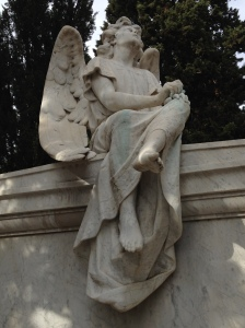Another angel in Montjuic