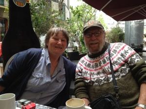 Autora Ailsa Abraham y su marido!