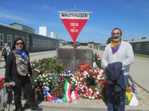 Monument to all the victims at Mauthausen. And Joan