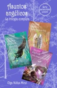 Asuntos angélicos. Trilogía completa. Portada de Lourdes Vidal