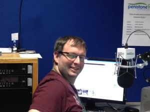 This is Andy, who needs to keep an eye on weather, traffic, Facebook, Twitter...