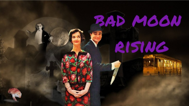 Teri's Bad Moon Rising banner with Teagan tomfoolery