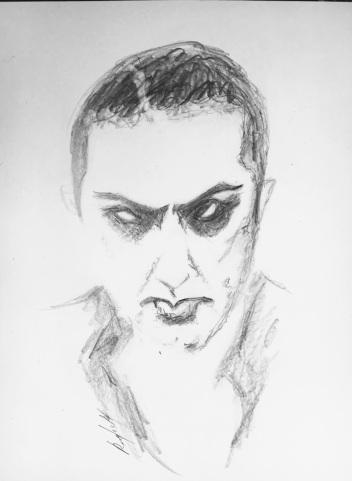 Dracula portrait sketch Resa McConaghy